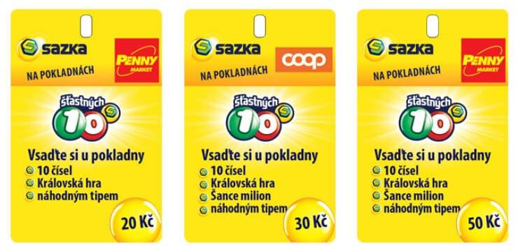Herní karty šťastných 10 deset na pokladnách