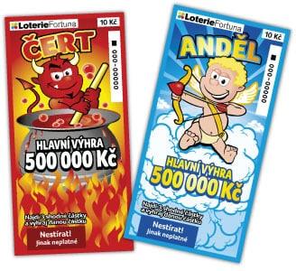 Stírací los Anděl a Čert od společnosti Loterie Fortuna