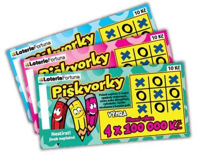 společnost Loterie Fortuna - Stírací los Piškvorky