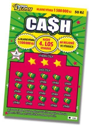 Stírací los Cash od společnosti Sazka - ukázka losu