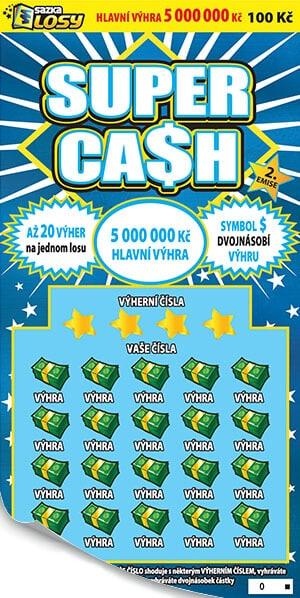 Stírací los Super cash od sazky