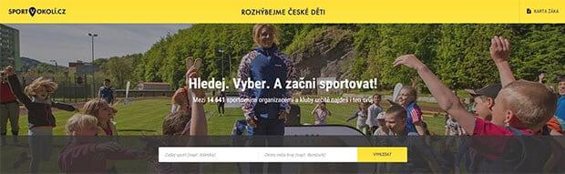 Ukázka webu sport v okolí