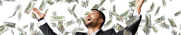 Šťastný výherce loterie