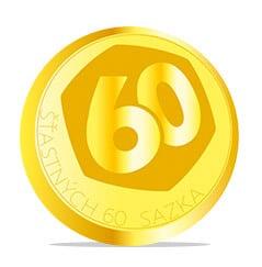 Zlatá mince - 60. let šťastných 10