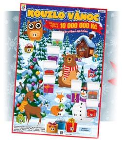 Vánoční stírací los od Loterie Fortuna - Kouzlo vánoc