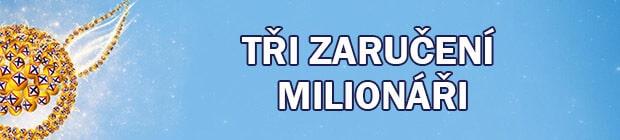 Tři zaručení milionáři ve Sportce
