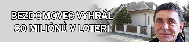 Bezdomovec vyhrál v loterii 30 miliónů
