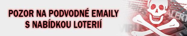 Pozor na podvodné emaily s nabídkou loterií