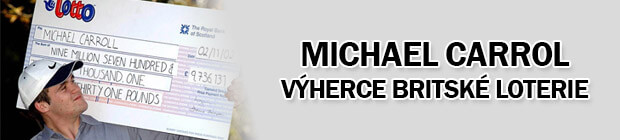 Michael Carrol - výherce britské loterie