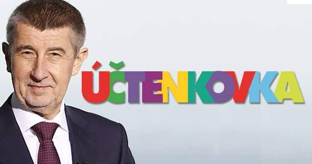účtenková loterie a fotka Andreje babiše