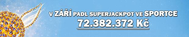 V září padl superjackpot ve Sportce