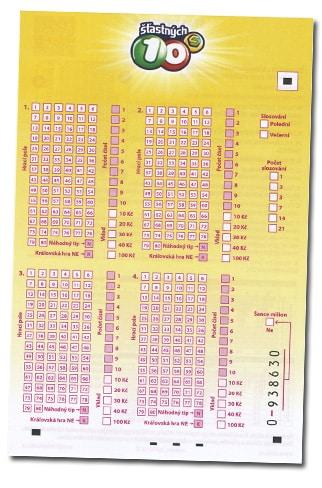 ▷ ŠŤASTNÝCH 10  Tažená čísla 3c6497d44fa
