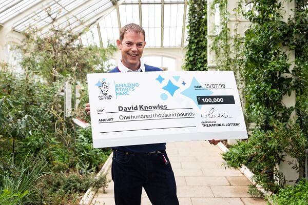 David Knowles výherce loterie