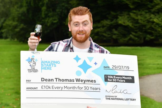 Britský výherce Dean Thomas Weymes
